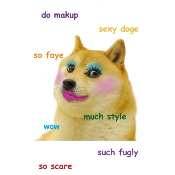 makeup_doge_t-shirt_design