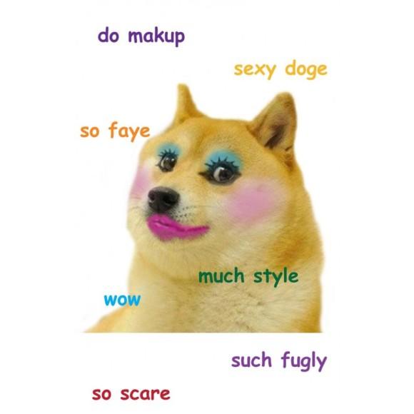 makeup_doge_t-shirt_design