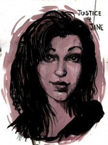 "Portrait of ""Jane Doe"" created by gender activists"