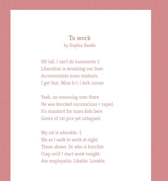 sophia banks poem1