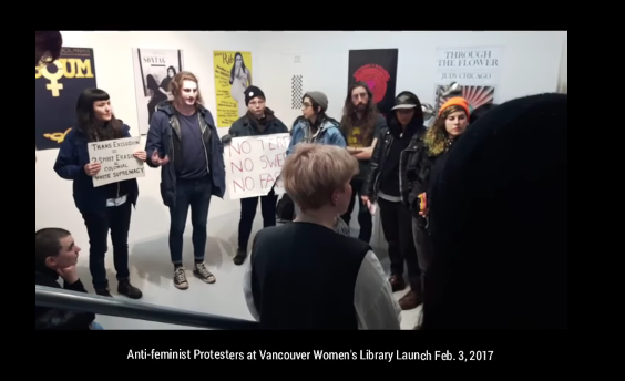 trans-activists-disrupt-vancouver-women-s-library-opening-cringe-warning-youtube