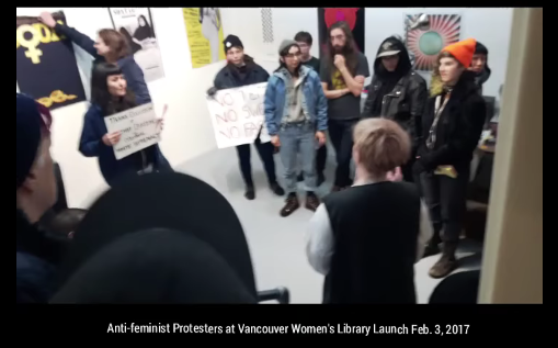 trans-activists-disrupt-vancouver-women-s-library-opening-cringe-warning-youtube1