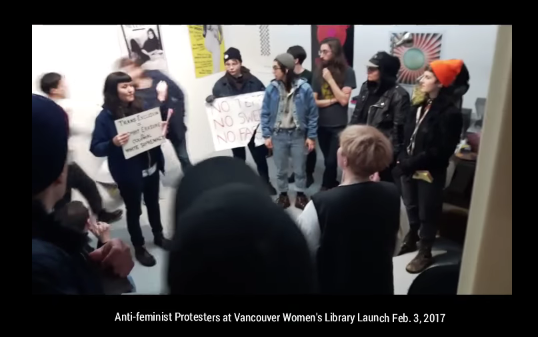 trans-activists-disrupt-vancouver-women-s-library-opening-cringe-warning-youtube2
